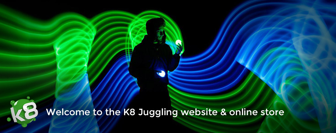 K8 Juggling online store - Juggling props and circus stuff