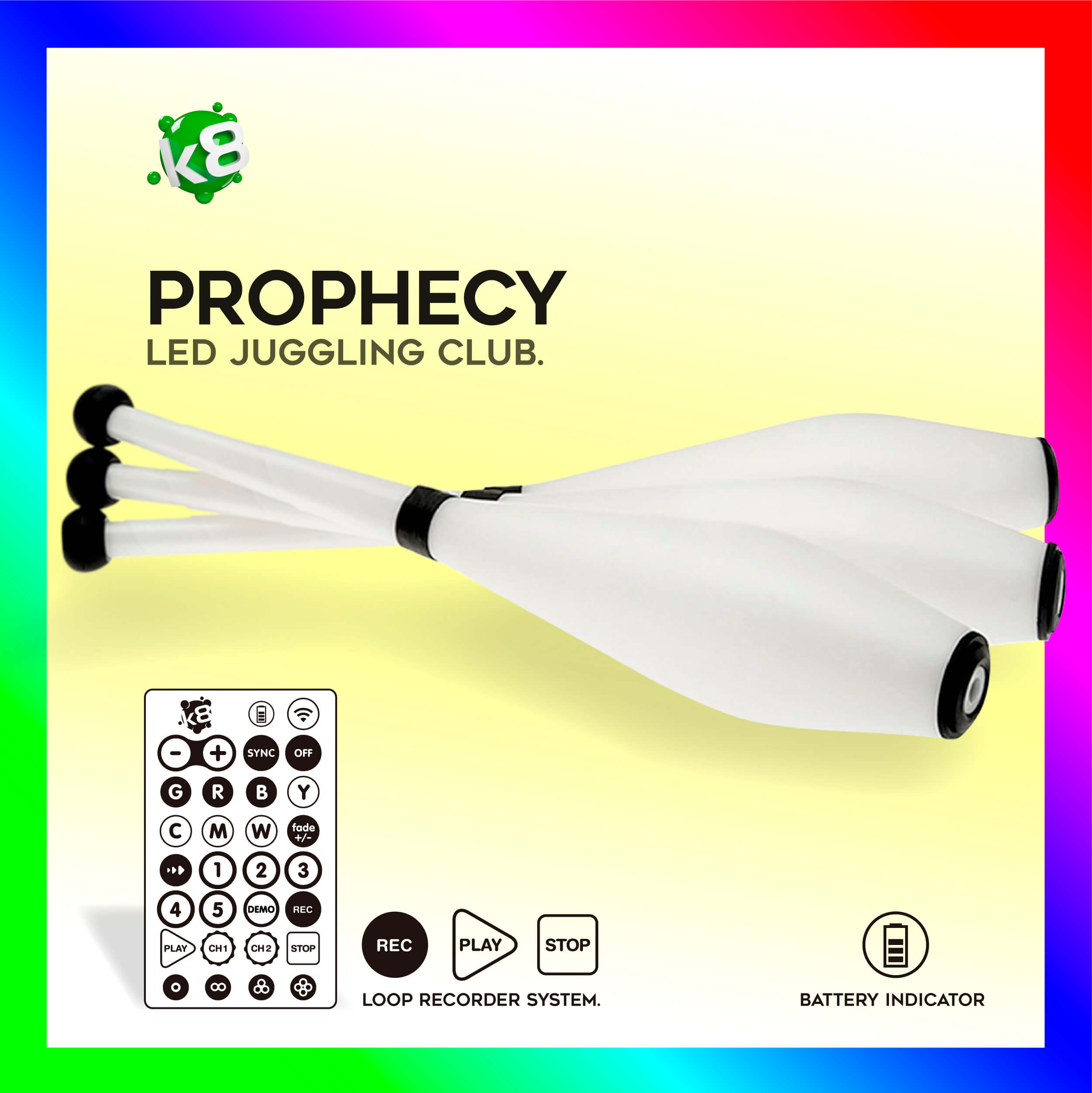 Prophecy RGB-IR LED Juggling Club