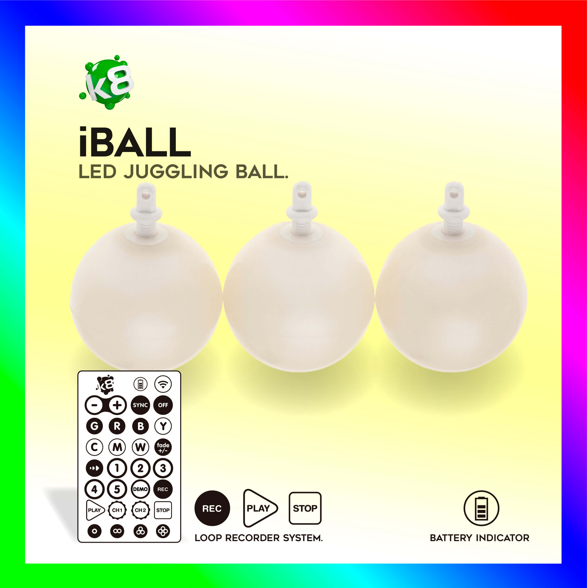 LED Ball iBall RGB-IR